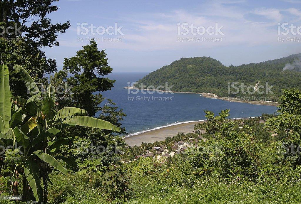 Coastal village in Papua New Guinea royalty-free stock photo