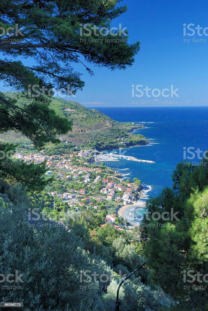 Coastal Village royalty-free stock photo