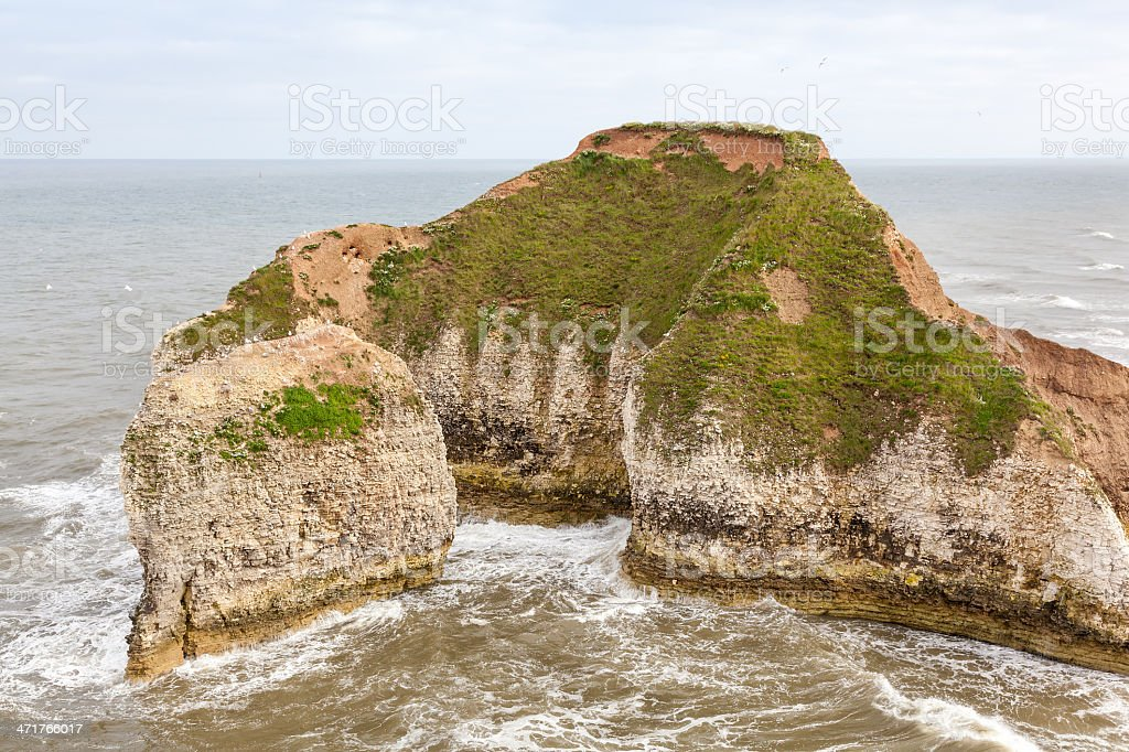 Coastal voew of Flamborough Head Yorkshire royalty-free stock photo