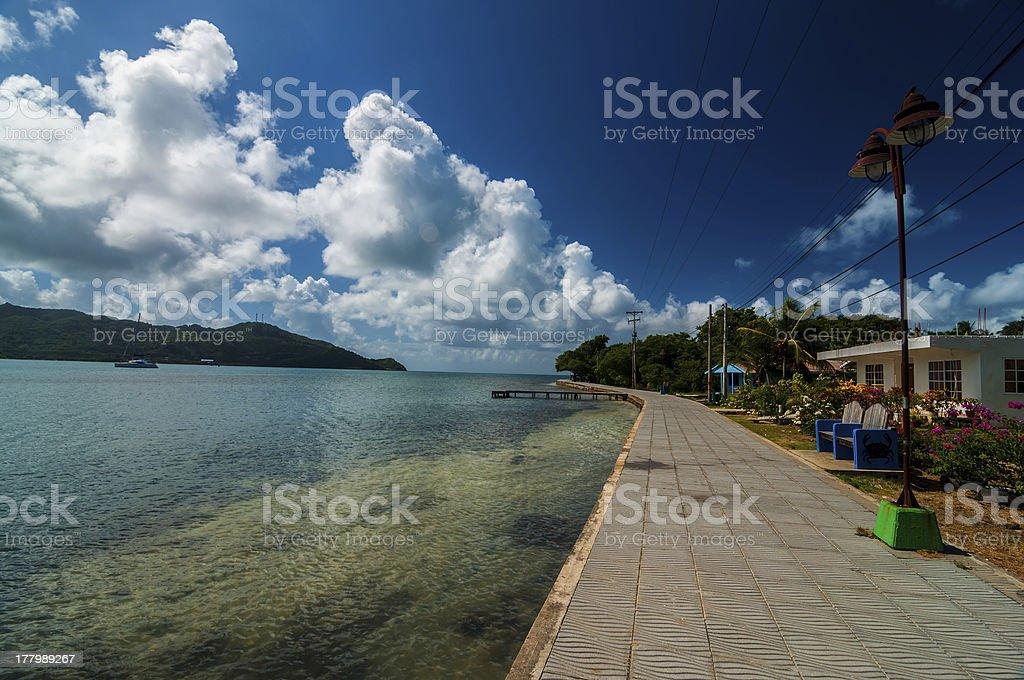 Coastal Walkway stock photo