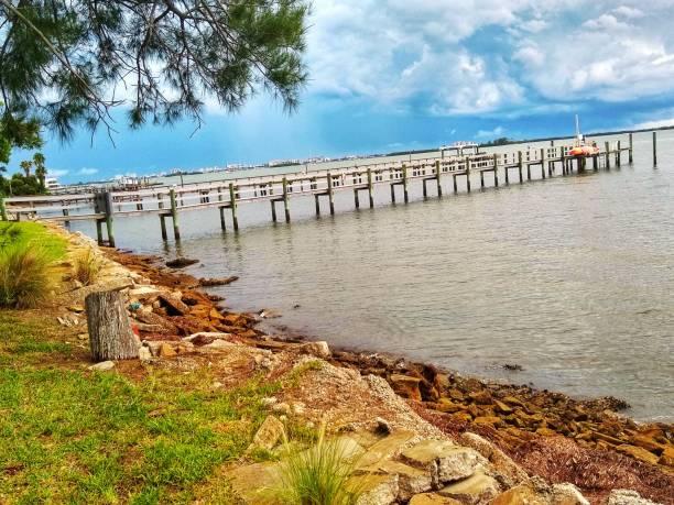Coastal water view Dunedin, Florida stock photo