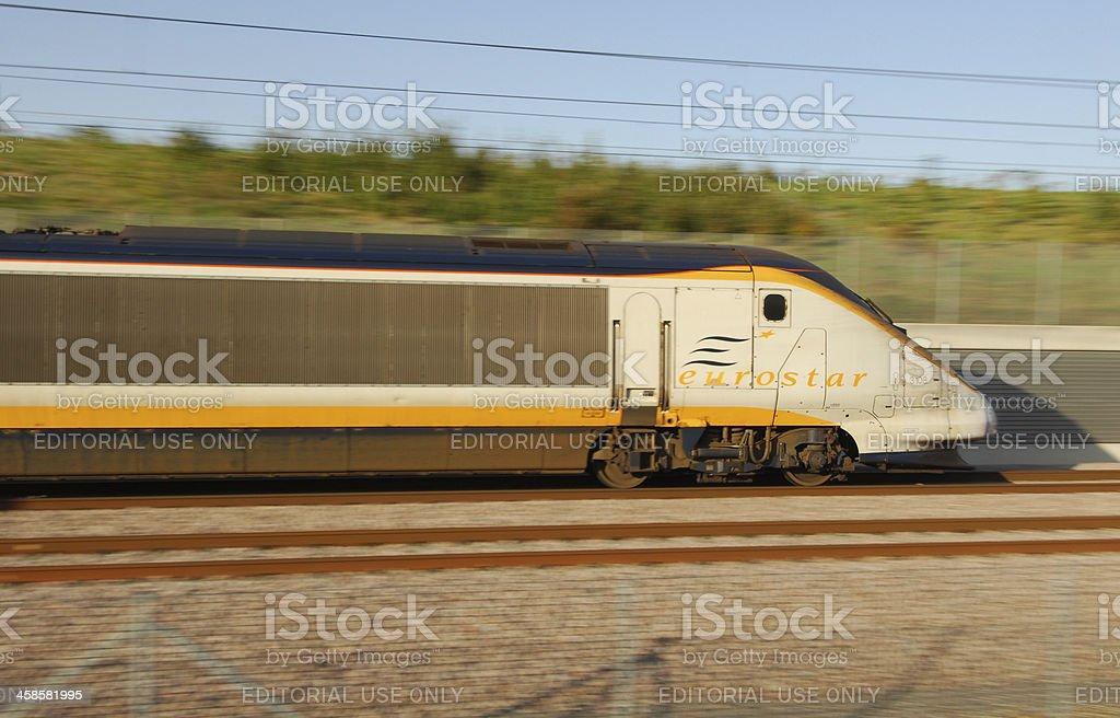 Coast-bound Eurostar Express stock photo