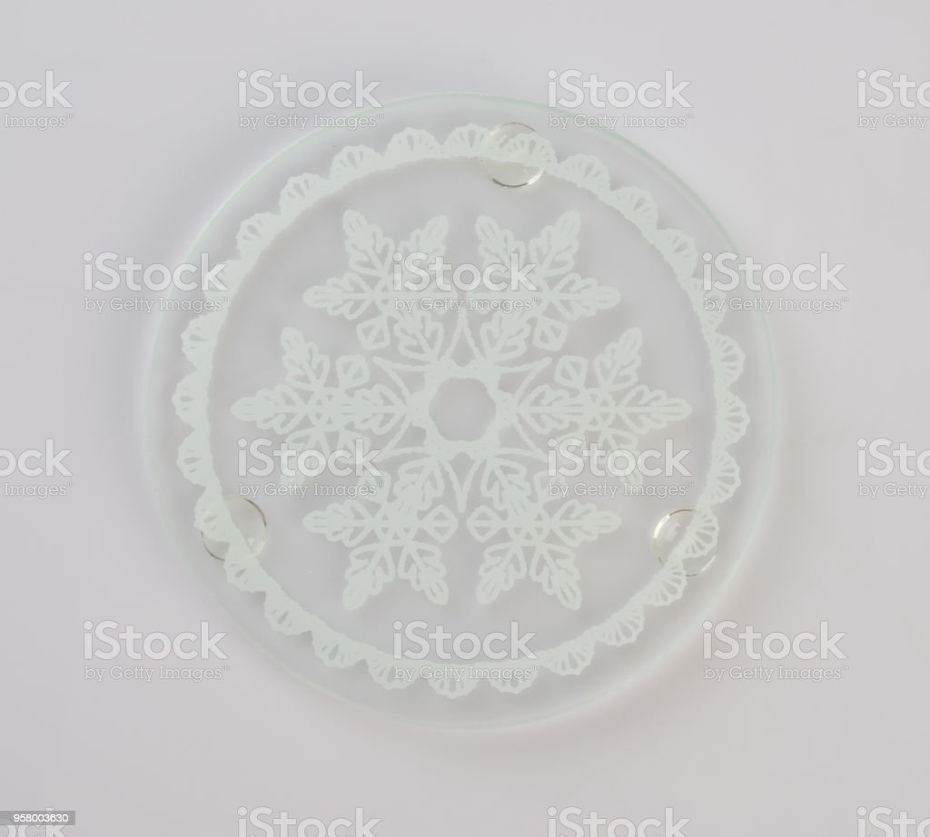 Coaster or glass coaster on a background stock photo