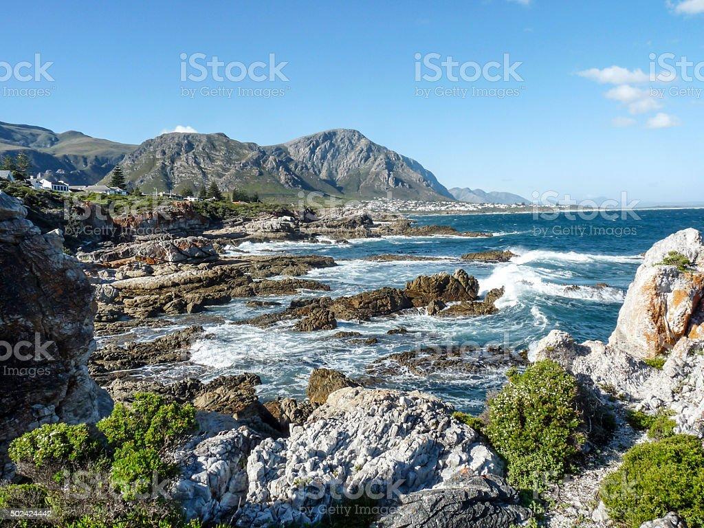 coastline at Fernkloof nature reserve coastline at Fernkloof nature reserve in South Africa 2015 Stock Photo
