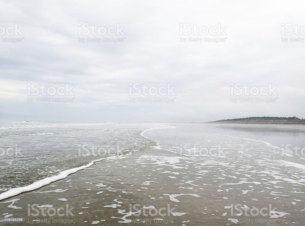 Coastline at Kiawah Island, South Carolina stock photo