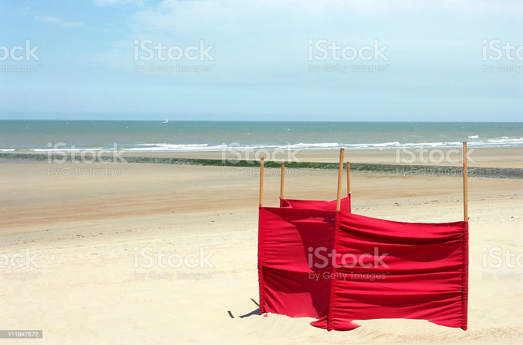 Coastline at low tide royalty-free stock photo