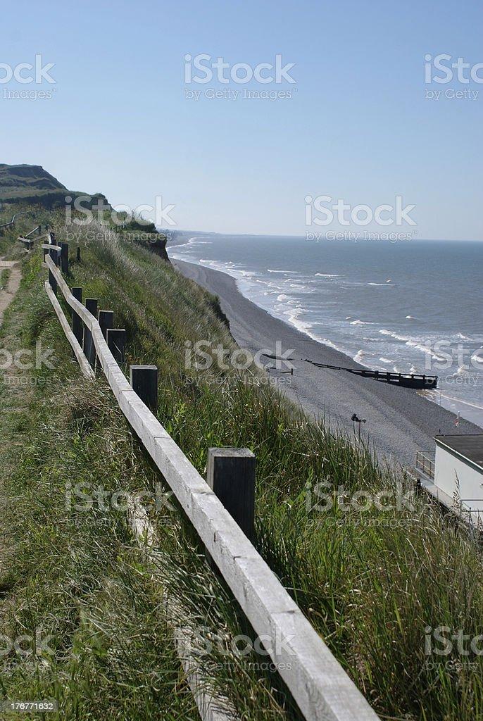 Coastline at Sheringham royalty-free stock photo