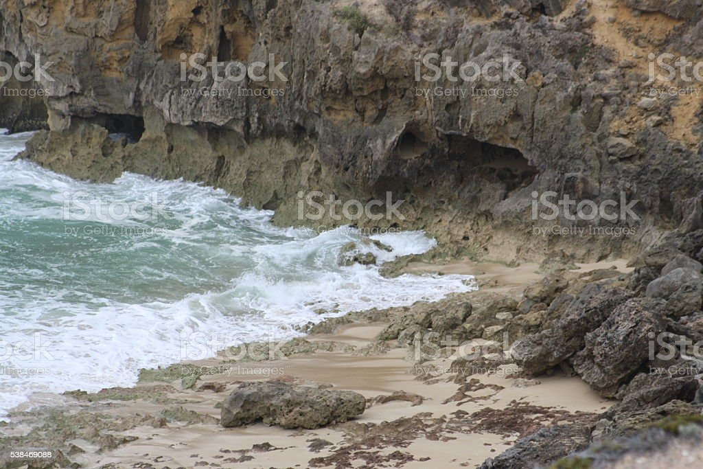 Coastline beach South Australian Coast stock photo
