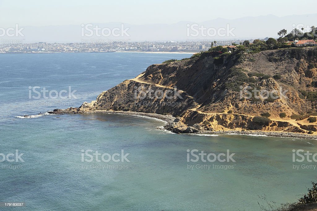 Coastline California Palos Verde Pacific Ocean royalty-free stock photo