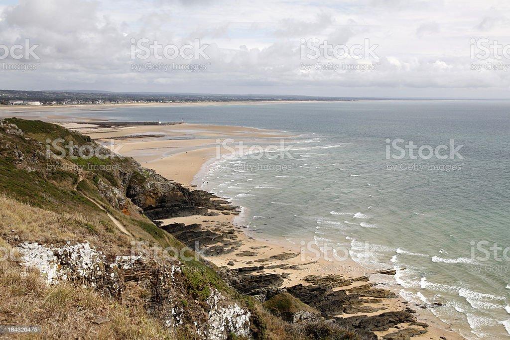 Coastline Cherbourg stock photo