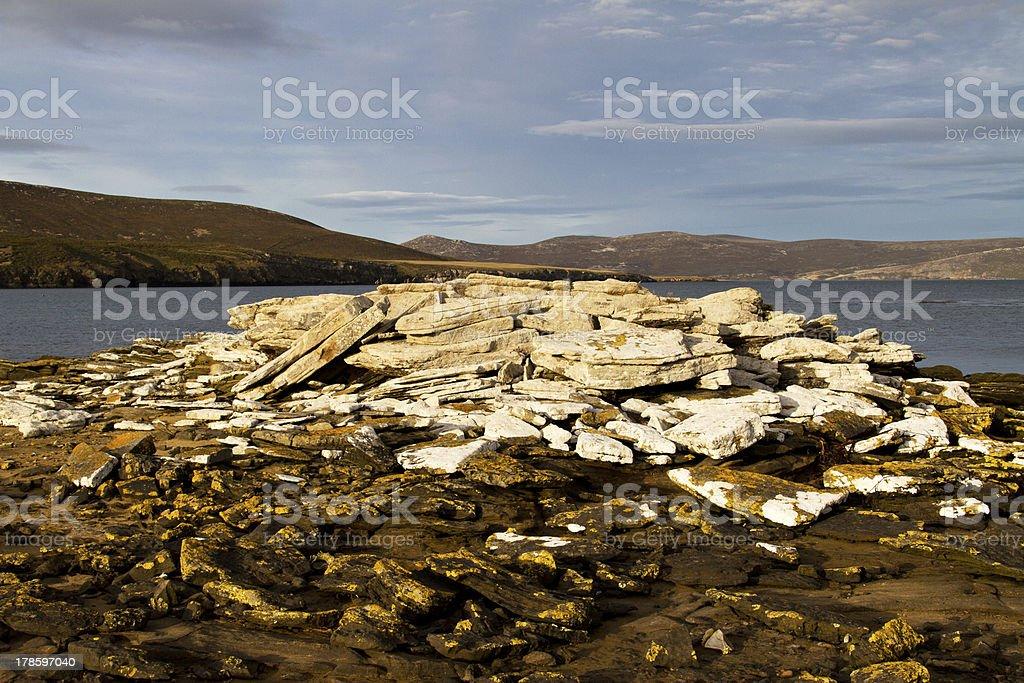 Coastline Falkland Islands royalty-free stock photo