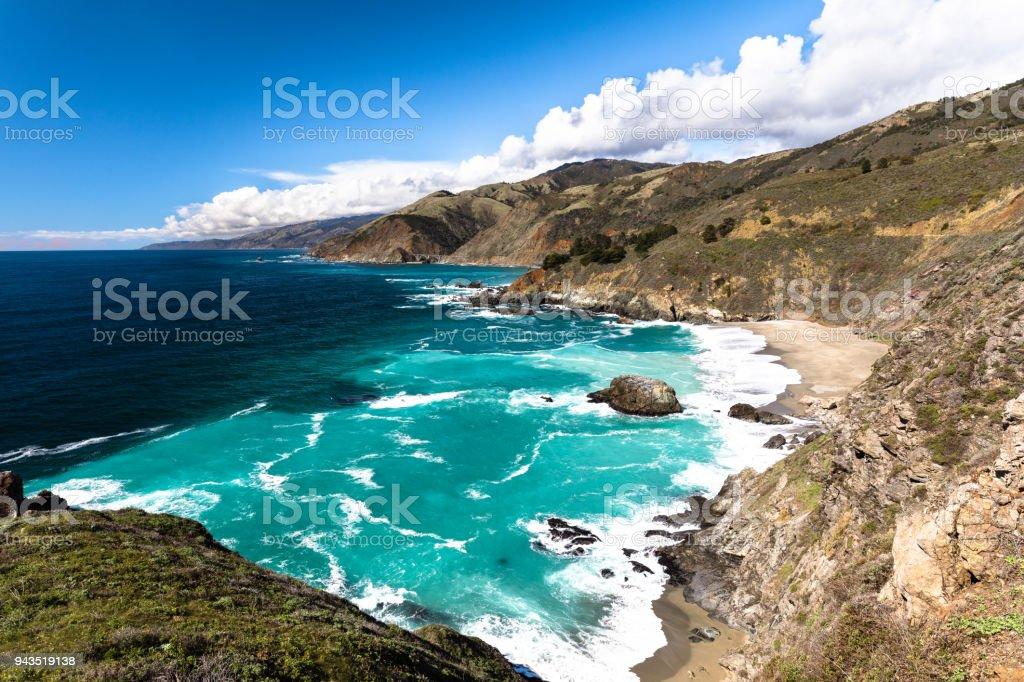 Coastline in Big Sur stock photo