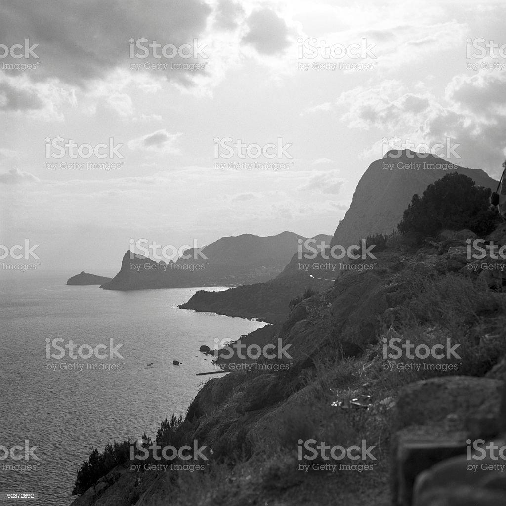 coastline in Crimea royalty-free stock photo