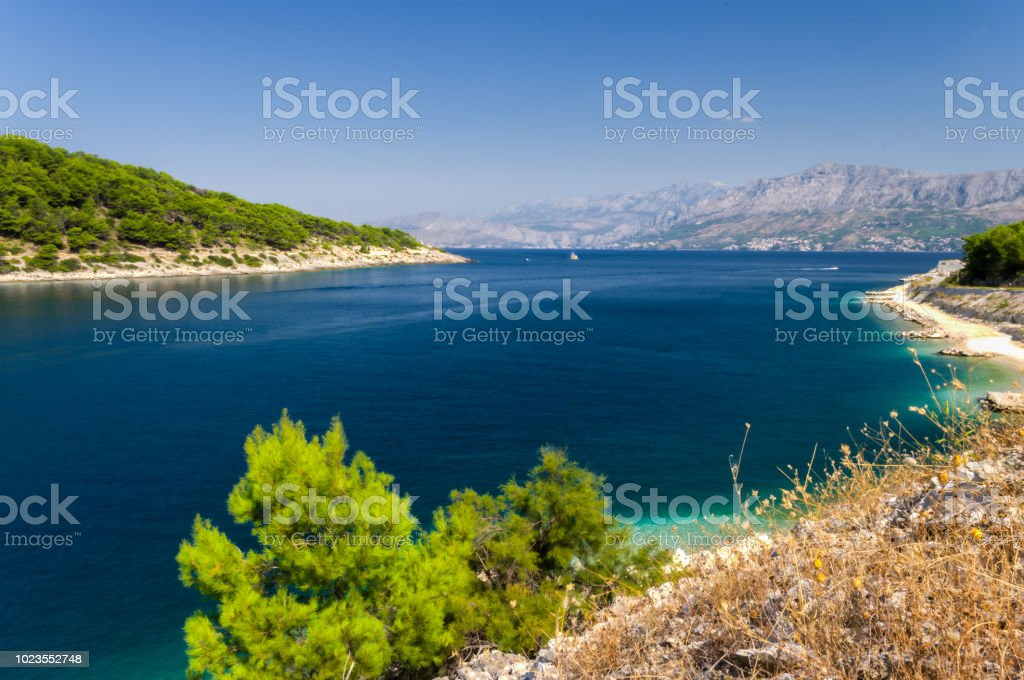 coastline in Croatia stock photo