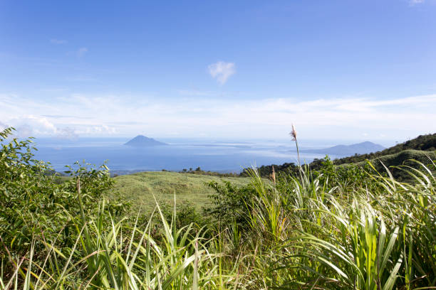 Coastline in front of Manado with islands Coastline in front of Manado with islands, Sulawesi, Indonesia manado stock pictures, royalty-free photos & images