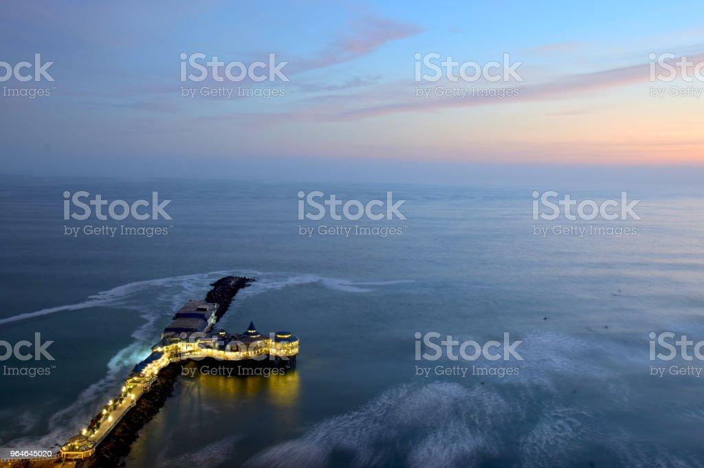 Coastline in Lima royalty-free stock photo
