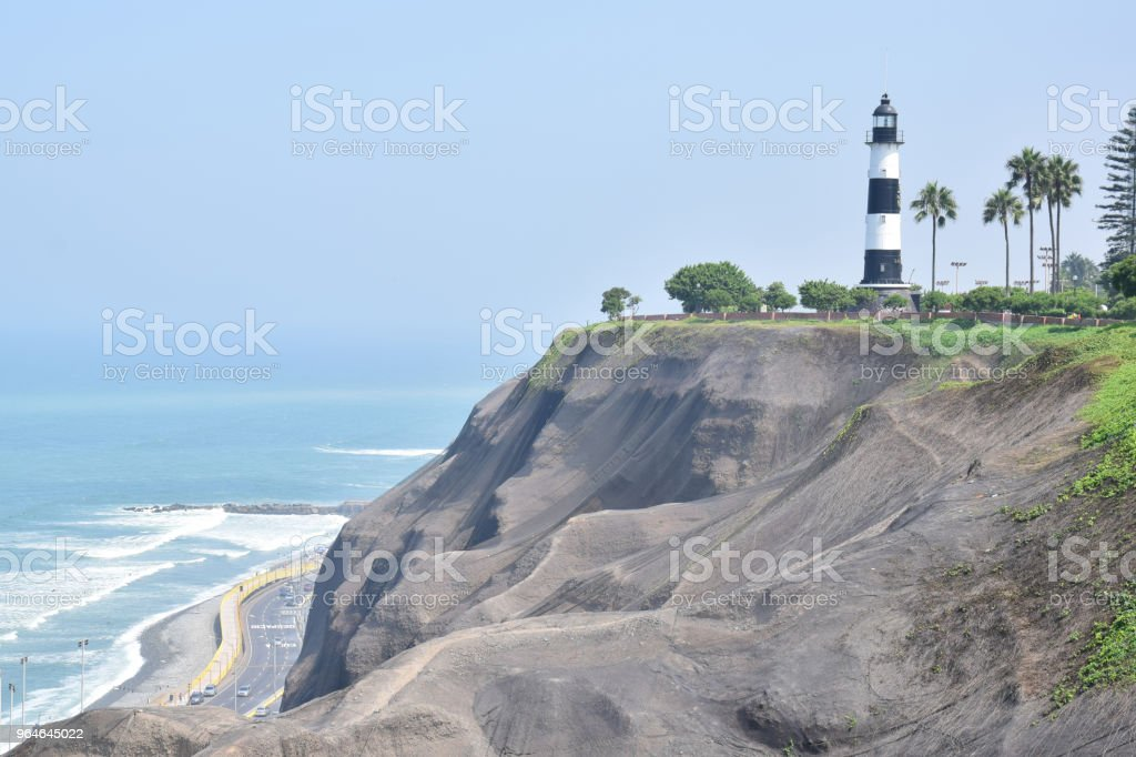 Coastline in Lima royalty-free stock photo