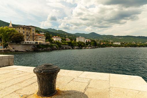 adriatic sea and the town Lovran in Croatia