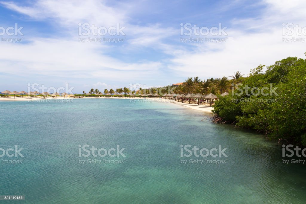 Coastline in Roatan, Honduras stock photo