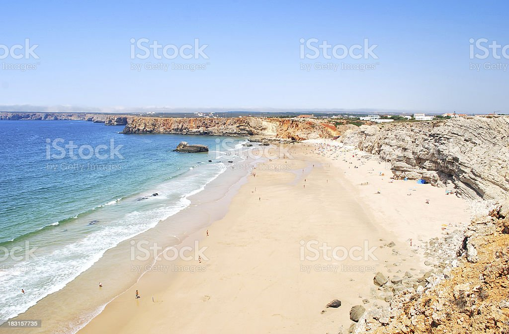 Coastline in south Portugal royalty-free stock photo