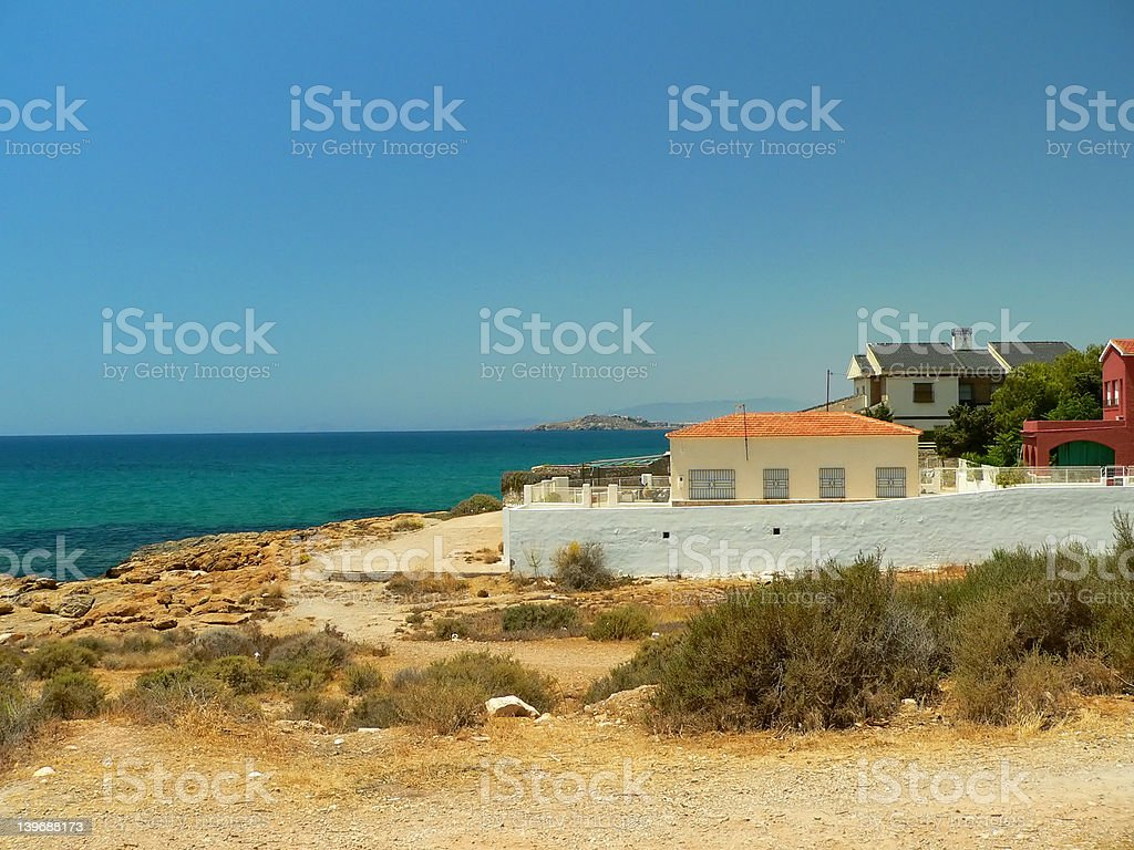 Coastline in Spain royalty-free stock photo