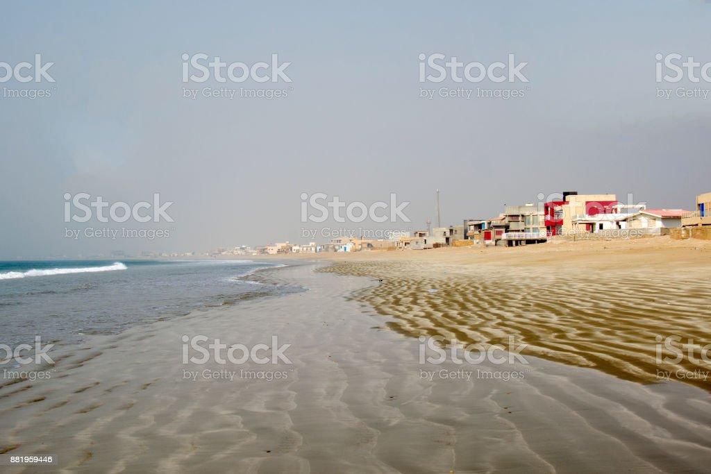 coastline in the Indian ocean, in Pakistan stock photo