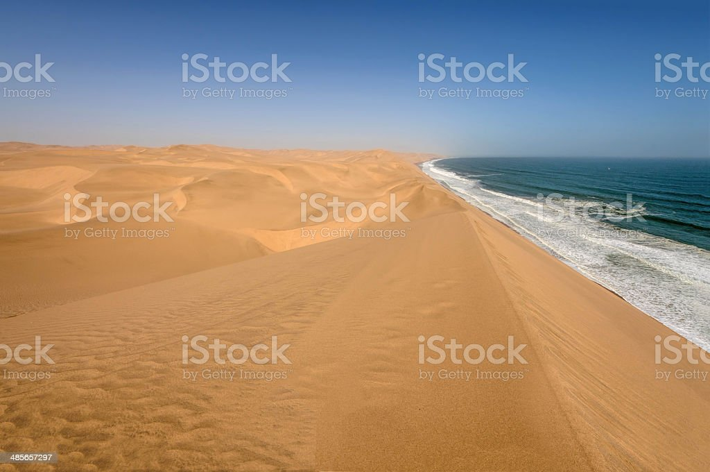 Coastline in the Namib desert near Sandwich Harbour stock photo