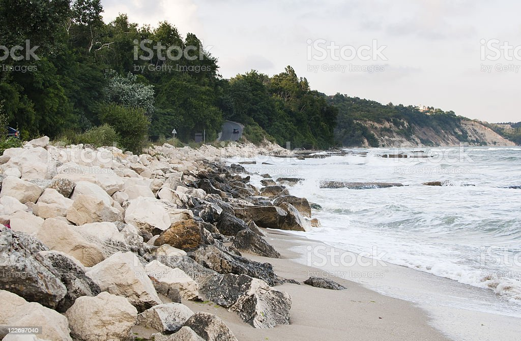 Coastline in Varna, Bulgaria stock photo