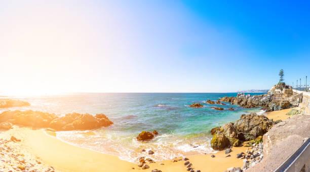 Coastline in Vina del Mar, Chile stock photo