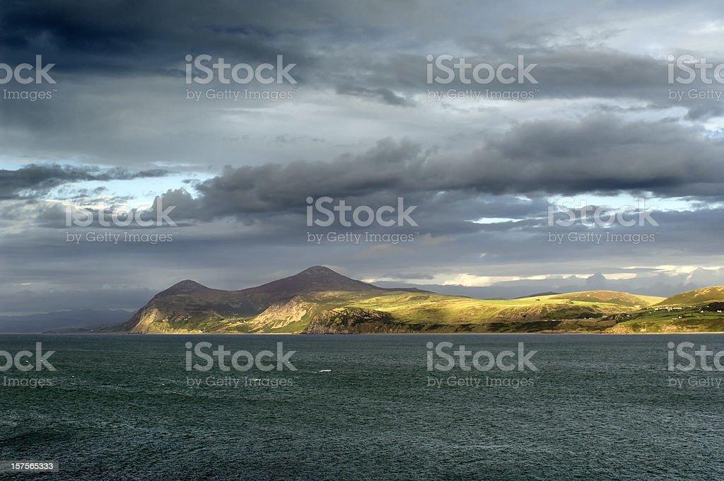 Coastline in Wales royalty-free stock photo