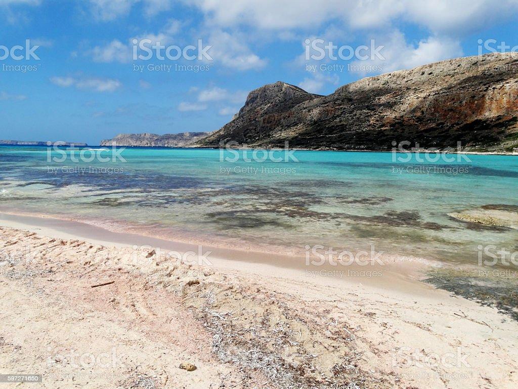coastline landscape of meditrannean sea Crete island greece photo libre de droits