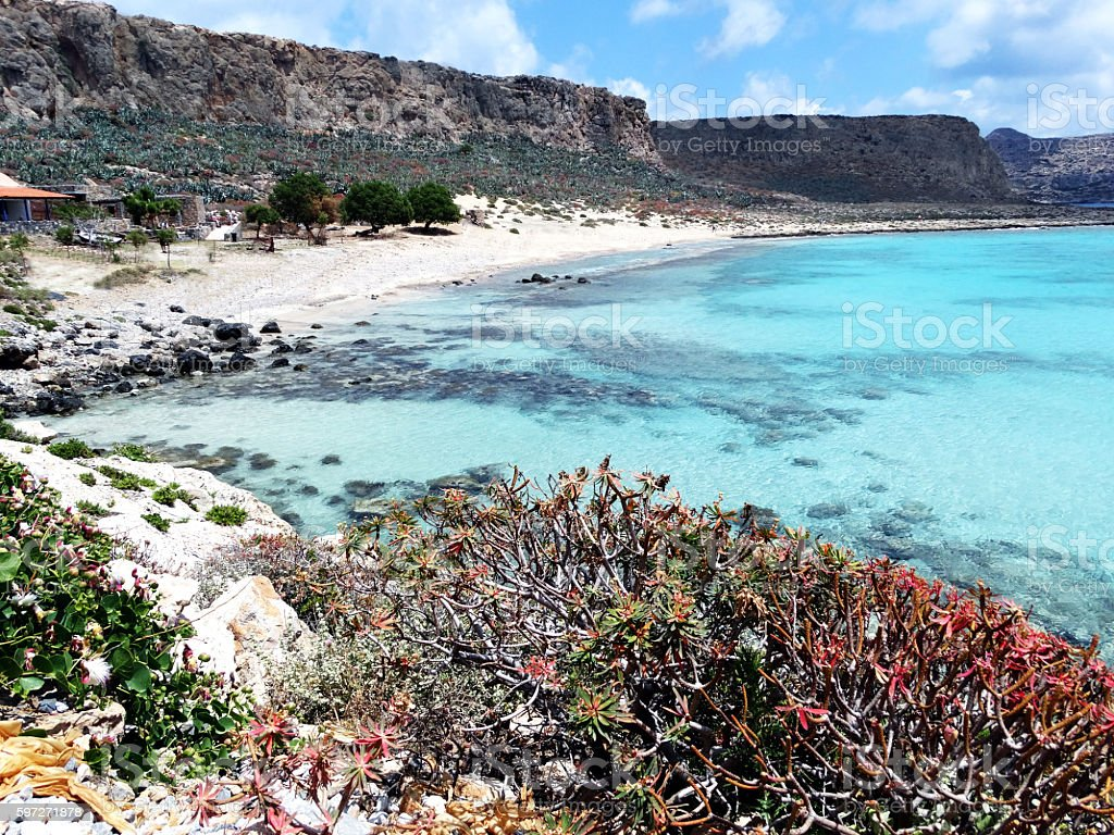 coastline landscape of meditrannean sea Crete island greece royalty-free stock photo