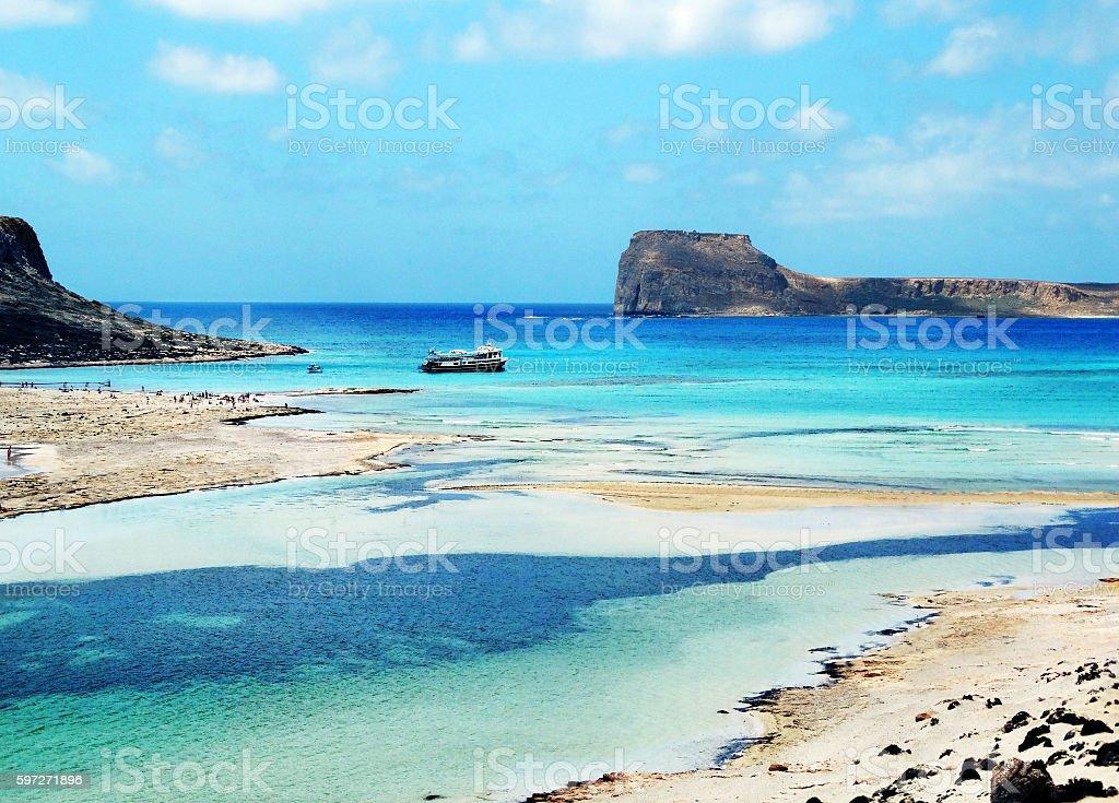 coastline landscape of meditrannean sea Crete island greece royalty-free stock photo