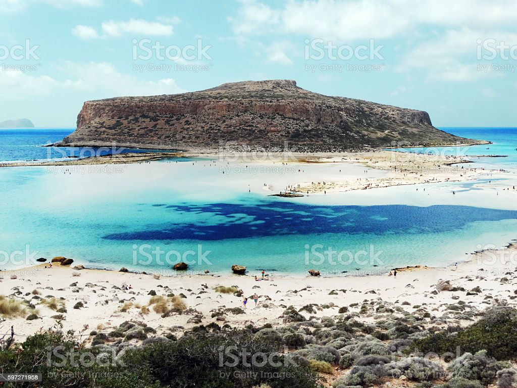 coastline landscape of meditrannean sea Crete island greece photo libre de droits