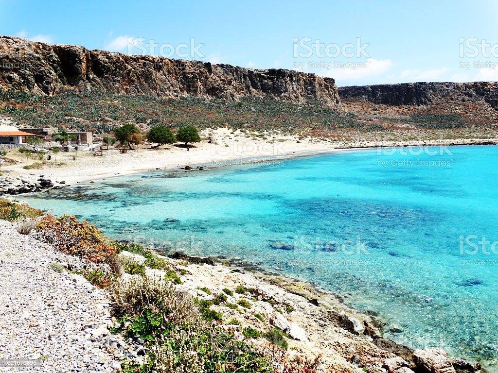 Paysage littoral de la mer de l'île de Crète en Grèce meditrannean photo libre de droits