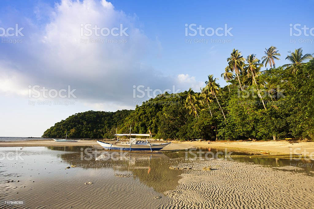 coastline landscape with tide going out royalty-free stock photo