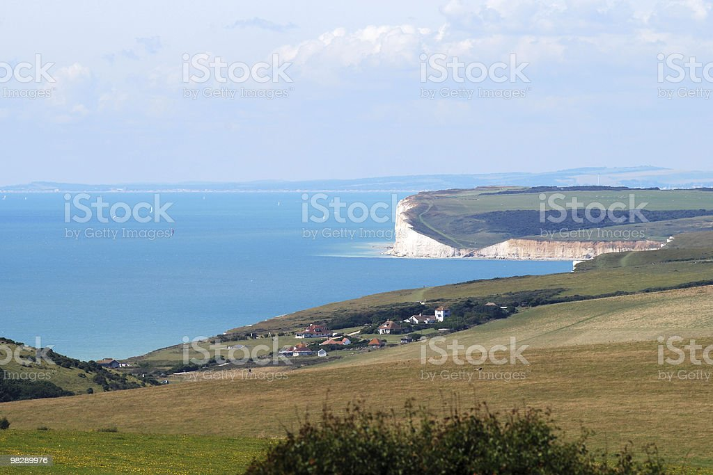 Costa vicino a Eastbourne, East Sussex, Inghilterra foto stock royalty-free