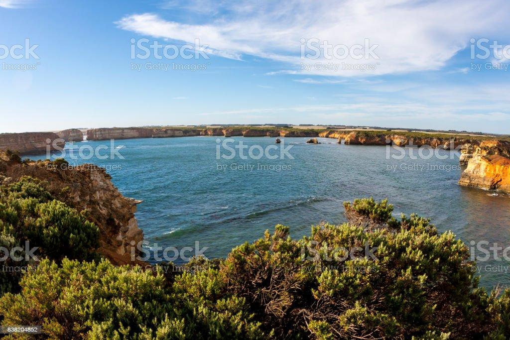 Coastline near Great Ocean Road.  Port Campbell National Park, Victoria, Australia. stock photo