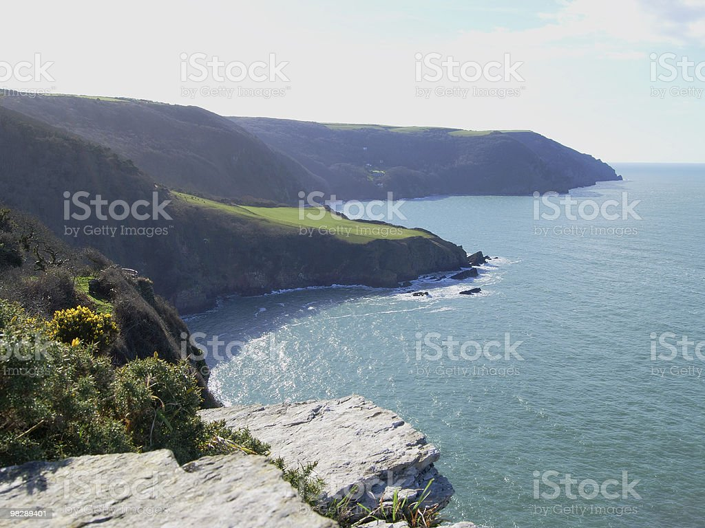 Coastline near Lynton, North Devon, England royalty-free stock photo