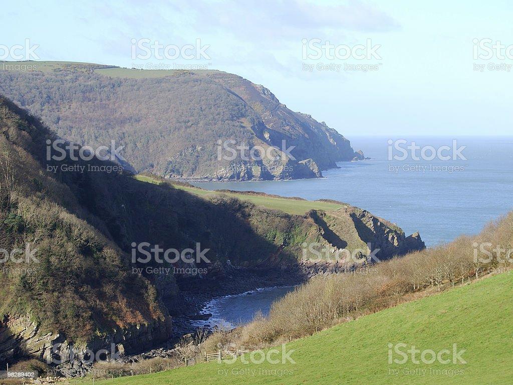 Coastline near Lynton, North Devon, England royalty-free stock photo