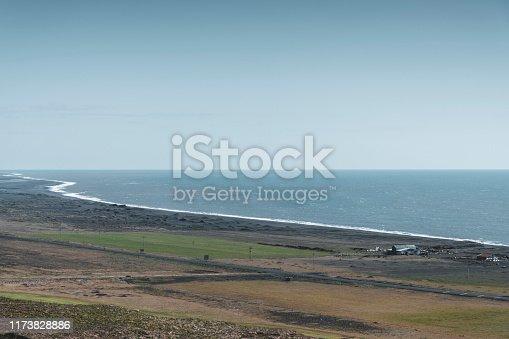 Coastline near Vik, South Iceland.