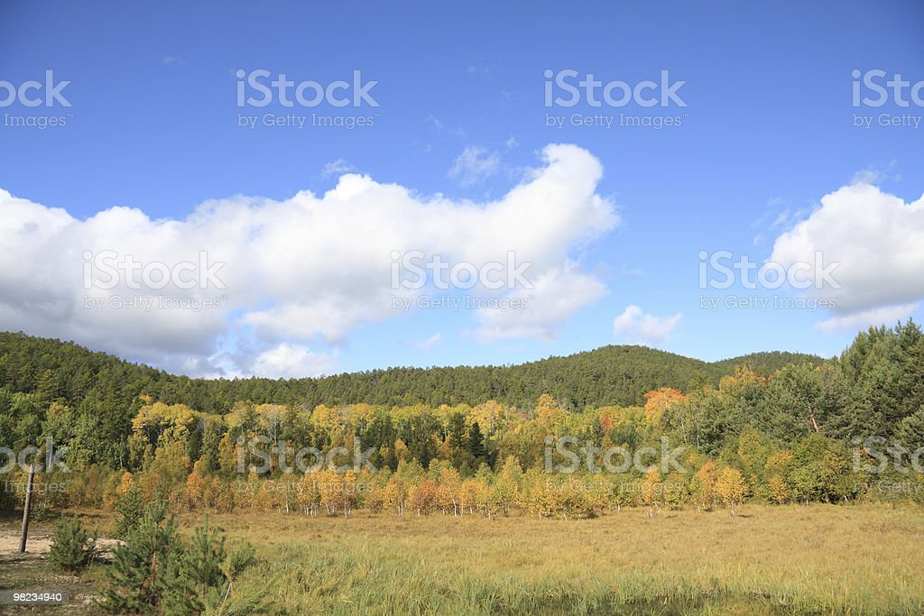 Coastline of Baikal lake royalty-free stock photo