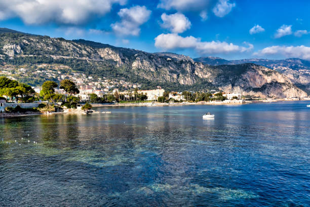 coastline of Beaulieu-sur-Mer, French Riviera stock photo