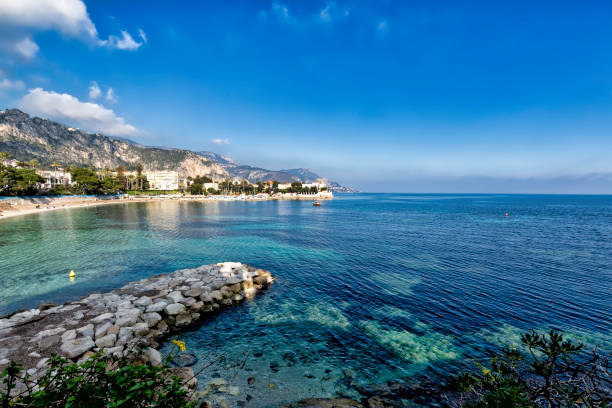 coastline of Beaulieu-sur-Mer, French Riviera stock photo