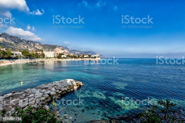 Coastline Of Beaulieusurmer French Riviera Stock Photo - Download Image Now