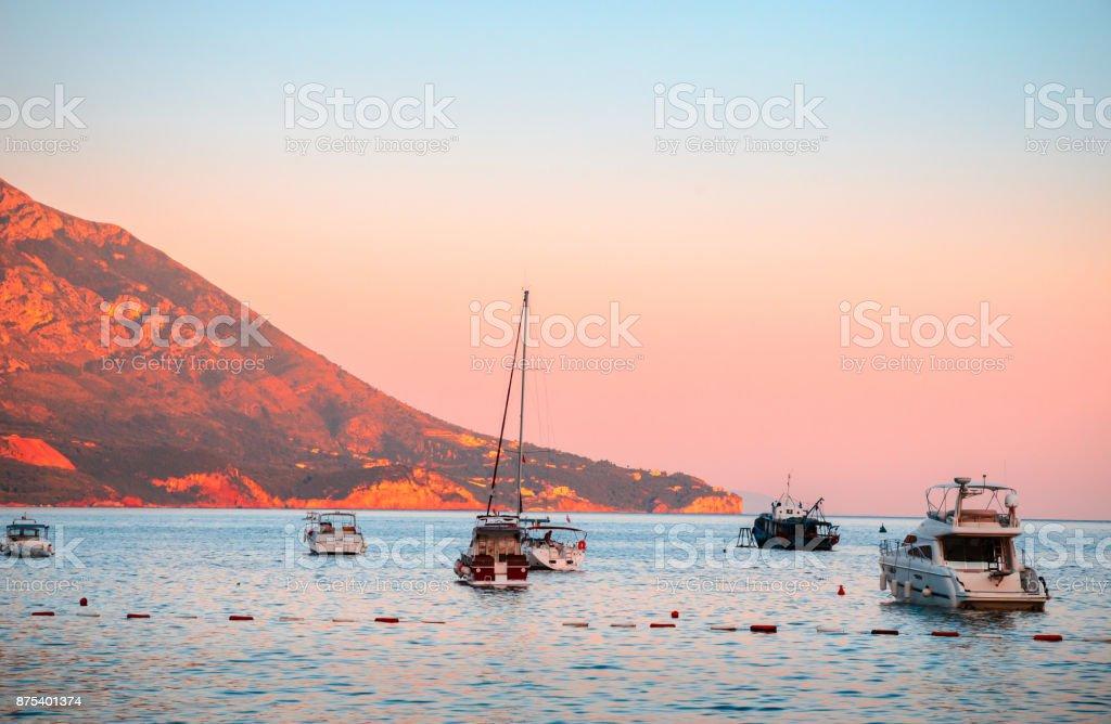 Coastline of Budva, Montenegro stock photo