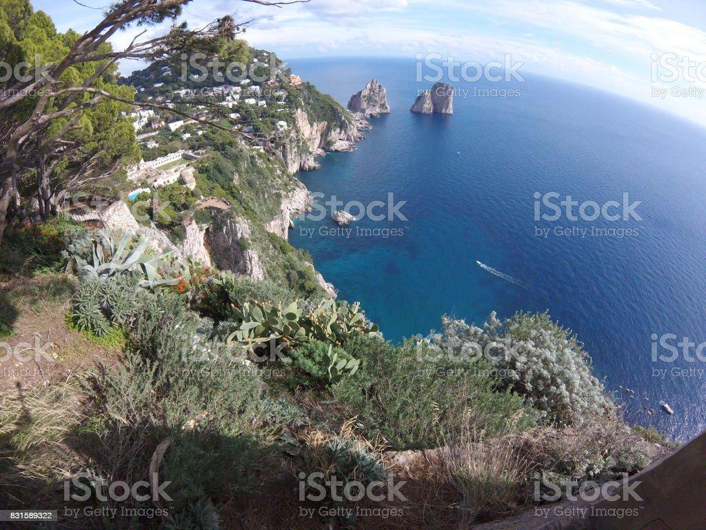 Coastline of Capri stock photo