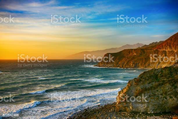 Photo of Coastline of Central California at Dusk