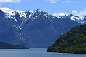 Along the coast of Chile and Patagonia