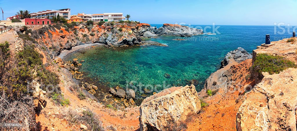 Coastline of Costa Calida in Murcia region, Spain stock photo